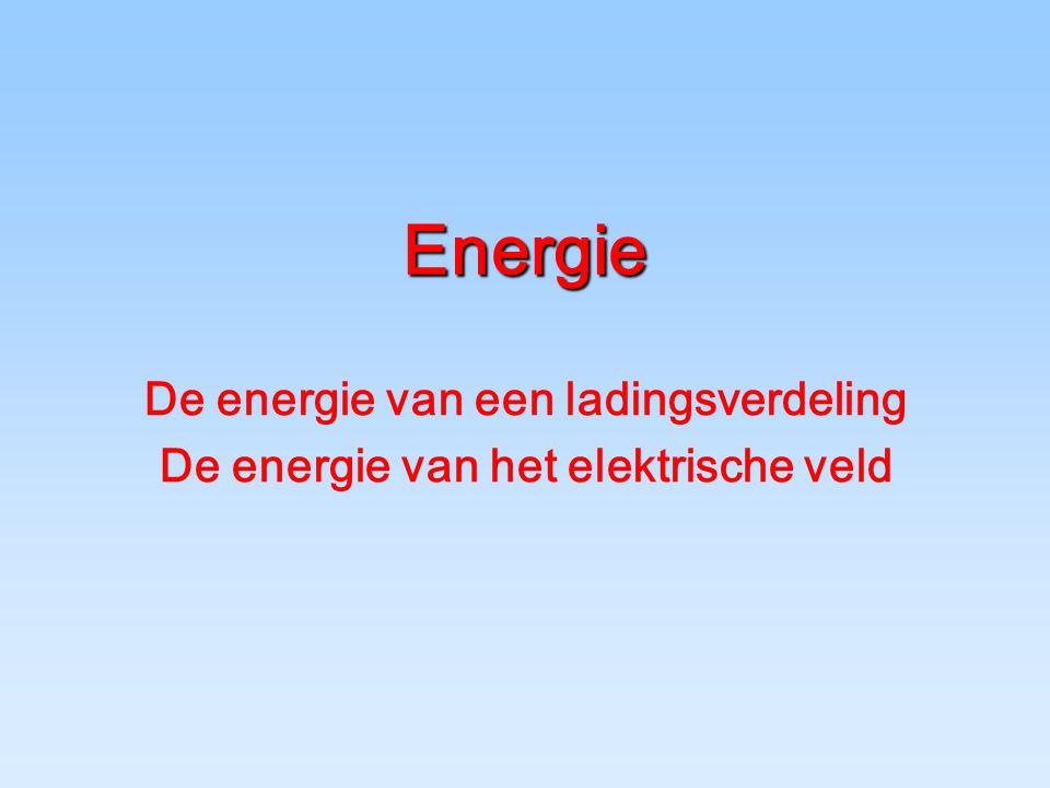 Energie De energie van een ladingsverdeling De energie van het elektrische veld