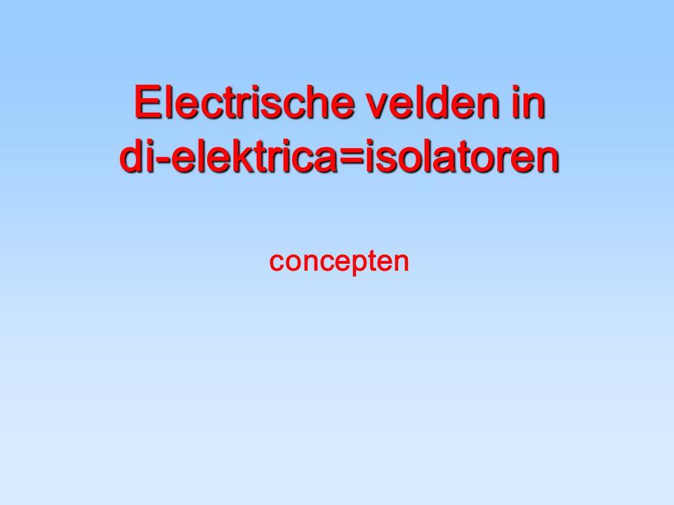 Electrische velden in di-elektrica=isolatoren concepten