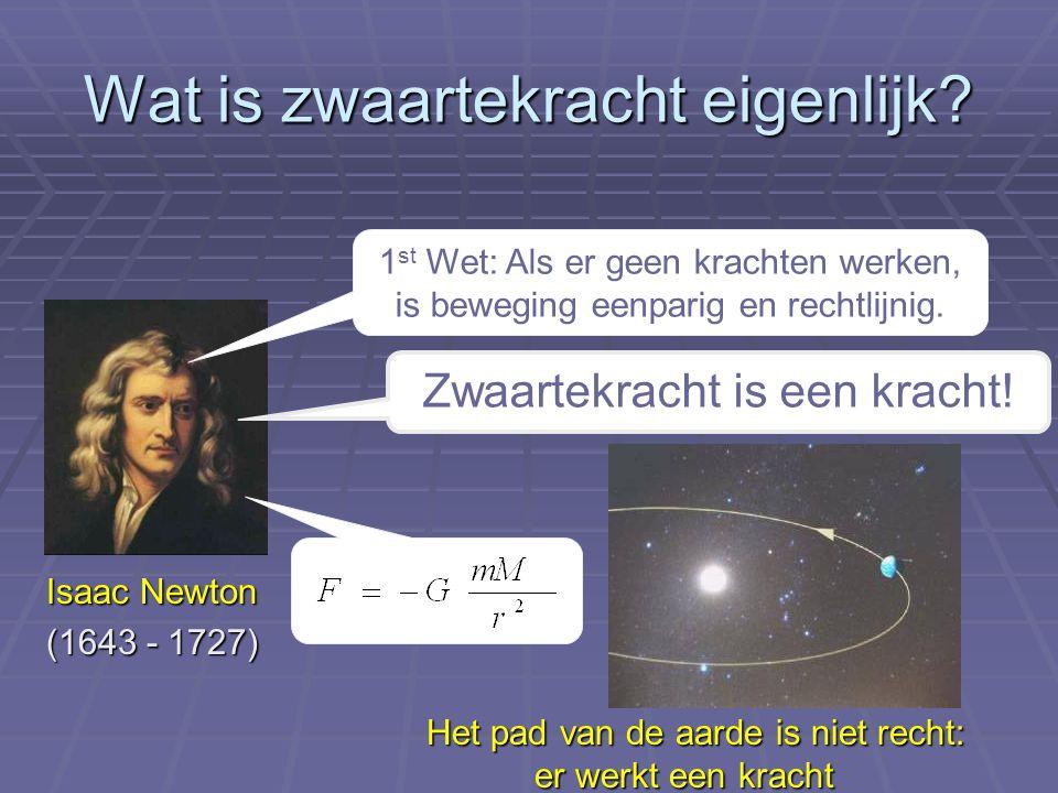Wat is zwaartekracht eigenlijk.Einstein was het hier niet mee eens..