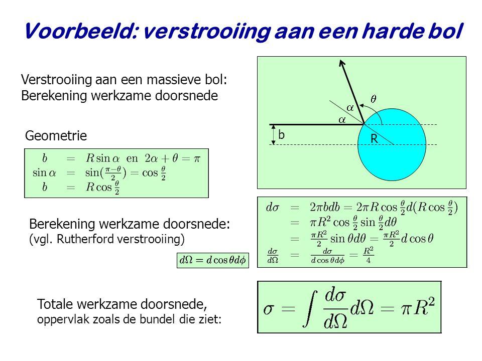 Najaar 2009Jo van den Brand7 Voorbeeld: Rutherford verstrooiïng Marsden en Geiger rond 1910 Coulomb potentiaal Alfa deeltjes: T b = 4 – 7 MeV
