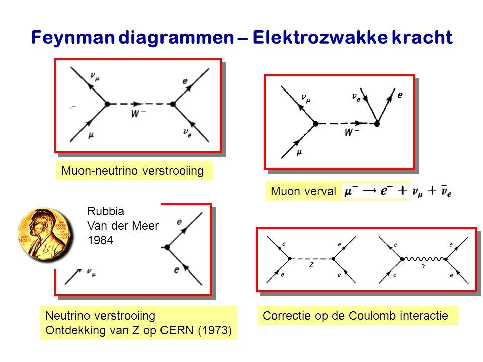 Najaar 2007Jo van den Brand16 Feynman diagrammen – Elektrozwakke kracht Muon-neutrino verstrooiing Muon verval Neutrino verstrooiing Ontdekking van Z