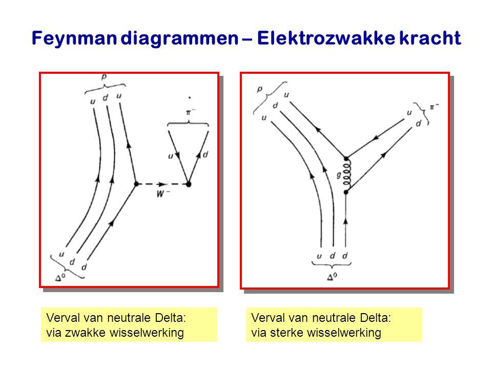 Najaar 2007Jo van den Brand18 Feynman diagrammen – Elektrozwakke kracht Verval van neutrale Delta: via zwakke wisselwerking Verval van neutrale Delta: