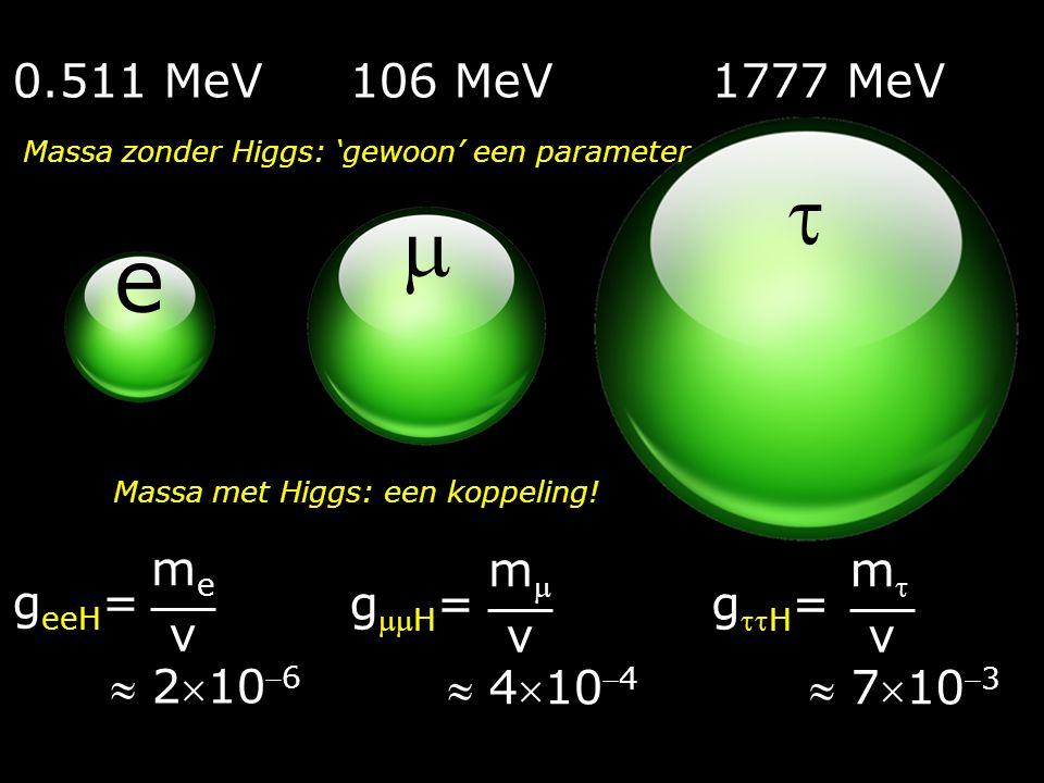 Higgs & massa 1963  eeH m v