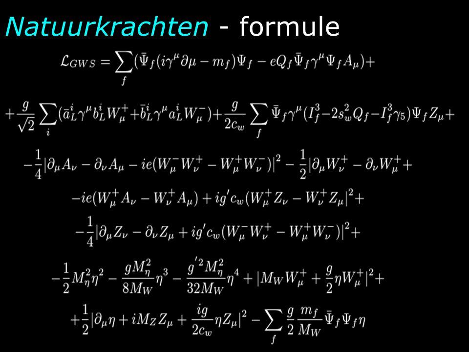 Natuurkrachten - formule