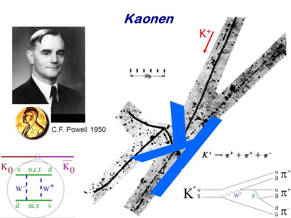 Najaar 2008Jo van den Brand46 Kaonen k K+K+ C.F. Powell 1950
