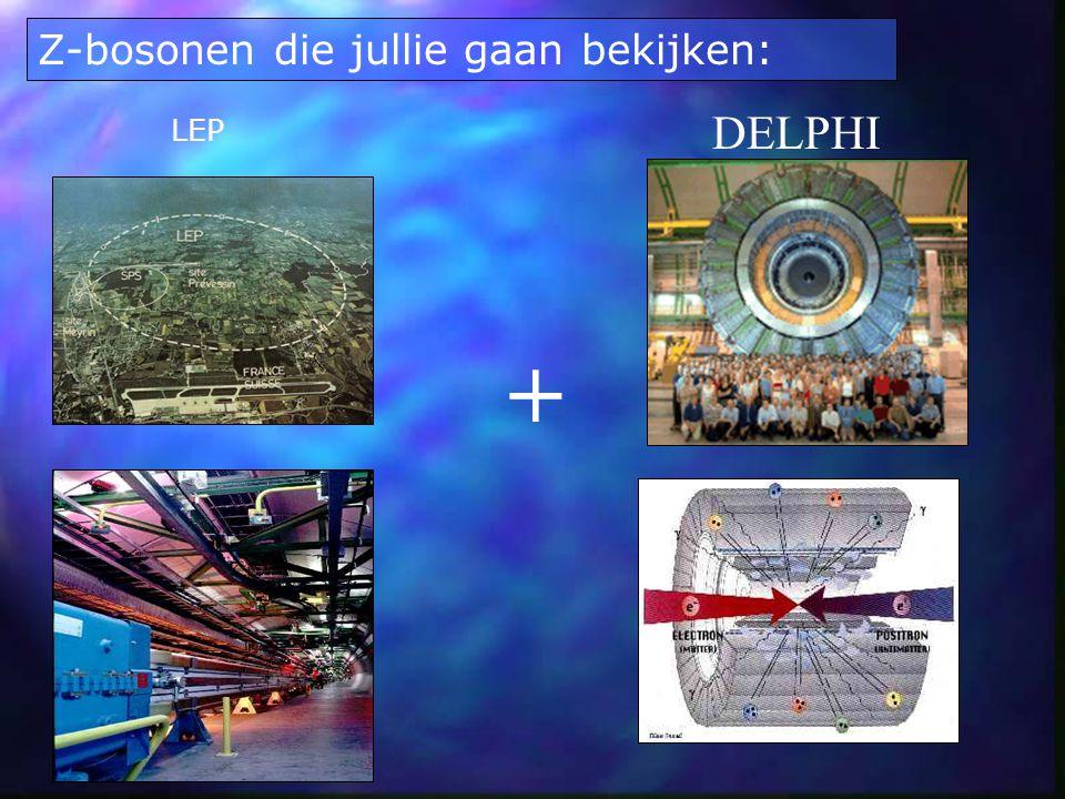 Z-bosonen die jullie gaan bekijken: LEP DELPHI +