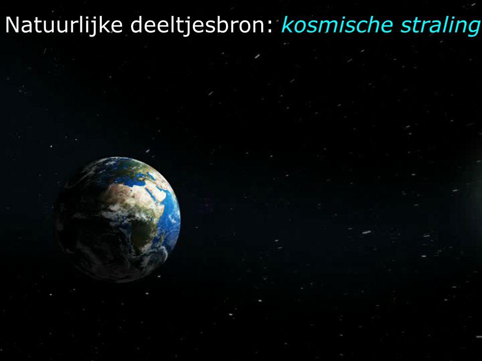 Natuurlijke deeltjesbron: kosmische straling