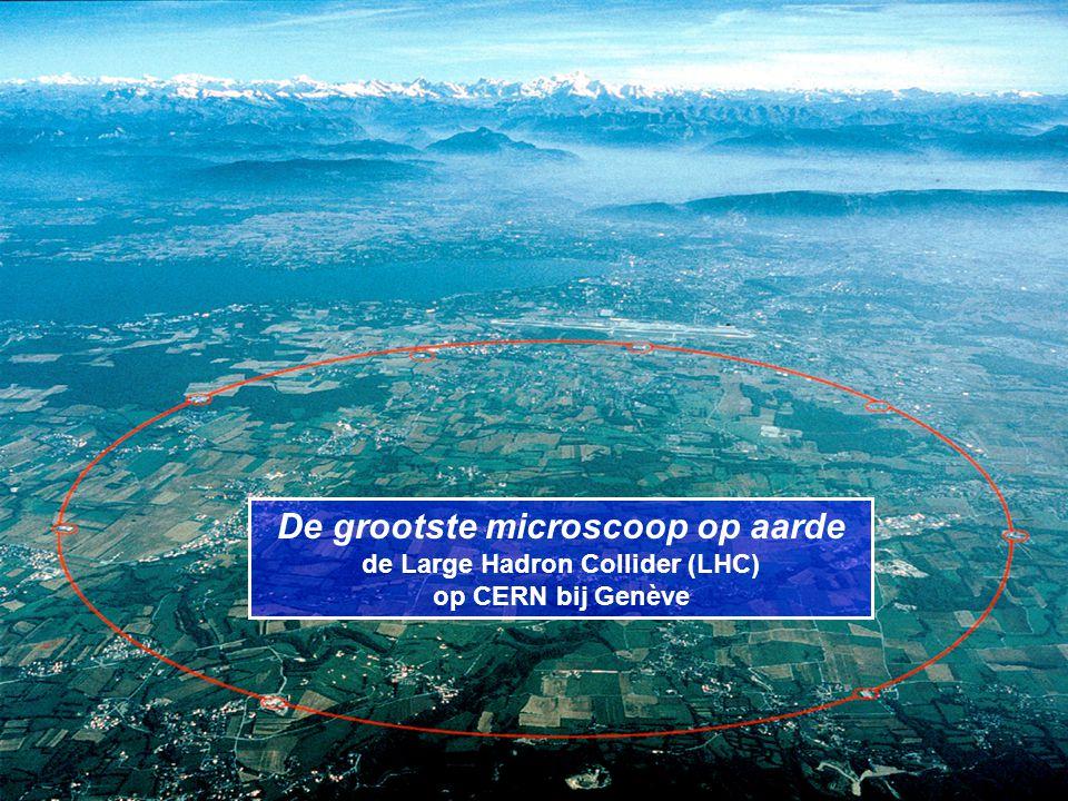 De grootste microscoop op aarde de Large Hadron Collider (LHC) op CERN bij Genève