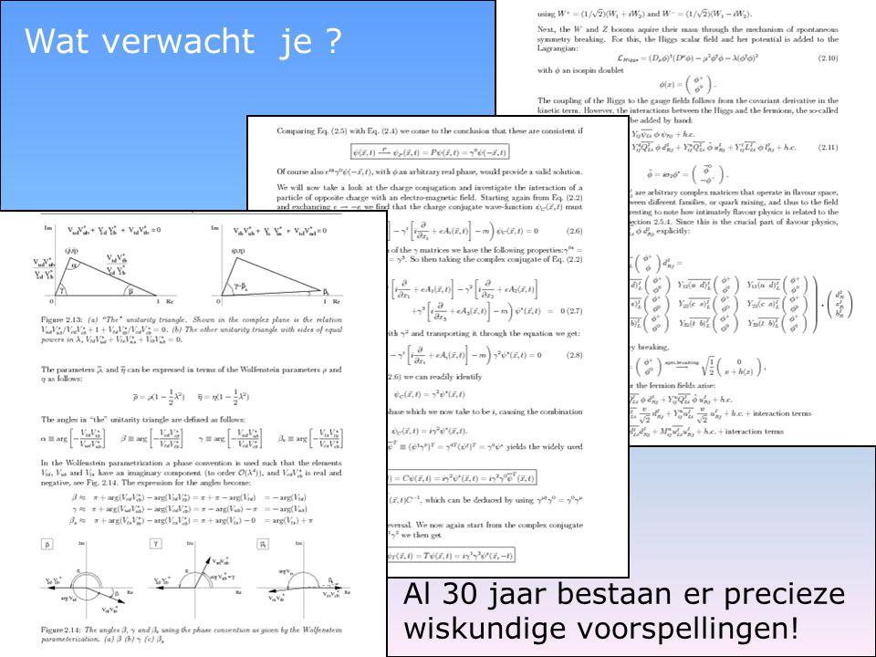 Wat verwacht je Al 30 jaar bestaan er precieze wiskundige voorspellingen!