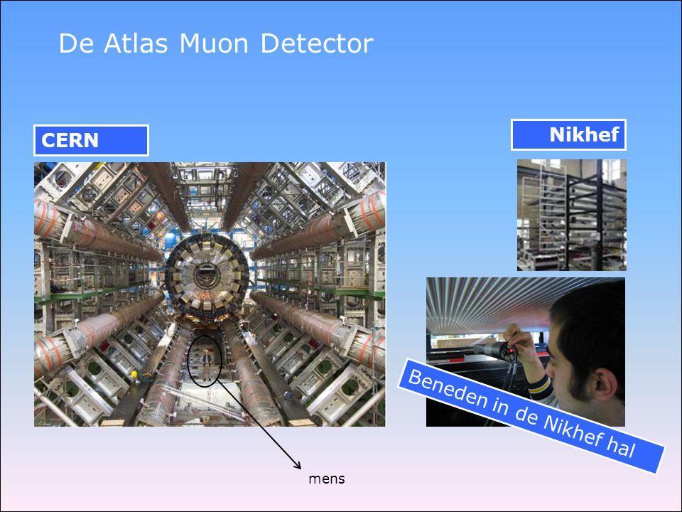 De Atlas Muon Detector mens Nikhef CERN Beneden in de Nikhef hal