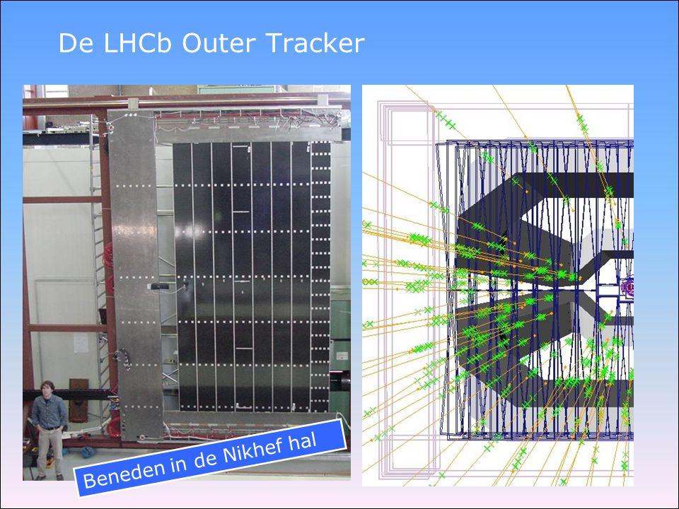 De LHCb Outer Tracker Beneden in de Nikhef hal