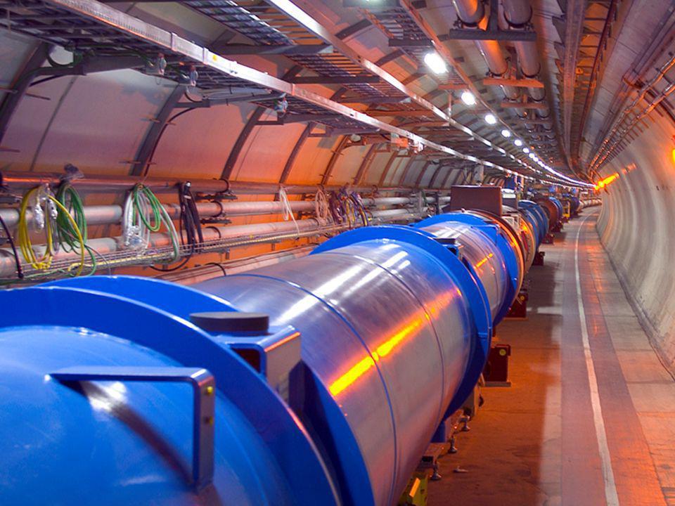 van je TV naar de LHC TV 50 cm e  10 9 atm +20 o C 1 T 40 keV 300 € afmeting bundel vacuum temperatuur magneet energie prijs LHC  9 km p + 10 13 atm 271 o C 8.3 T 7 TeV 3 G€ k=kilo =1,000 G=Giga=1,000,000,000 T=Tera =1,000,000,000,000