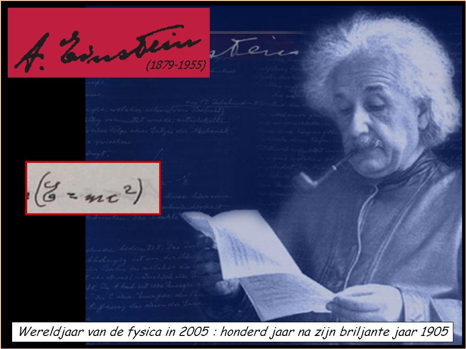 Wereldjaar van de fysica in 2005 : honderd jaar na zijn briljante jaar 1905