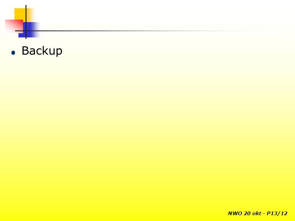 NWO 20 okt - P13/12 Backup