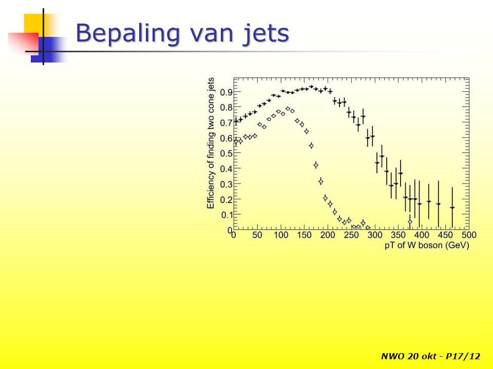 NWO 20 okt - P17/12 Bepaling van jets
