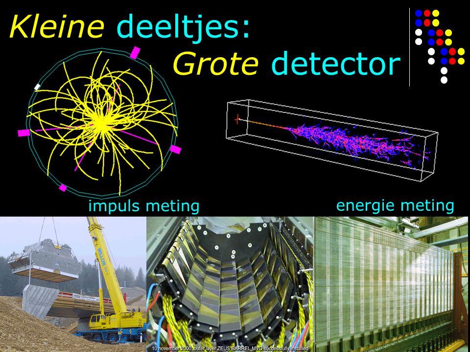 Kleine deeltjes: Grote detector impuls meting energie meting