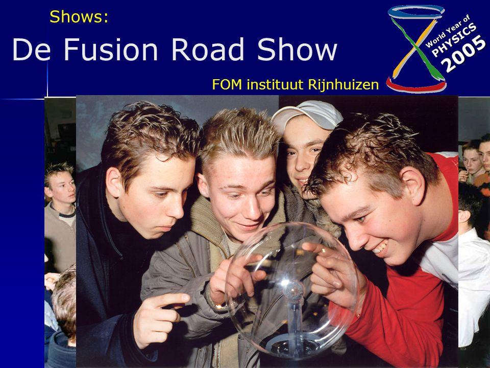 World Year of PHYSICS2005 De Natuurkundekermis Universiteit van Amsterdam Shows: