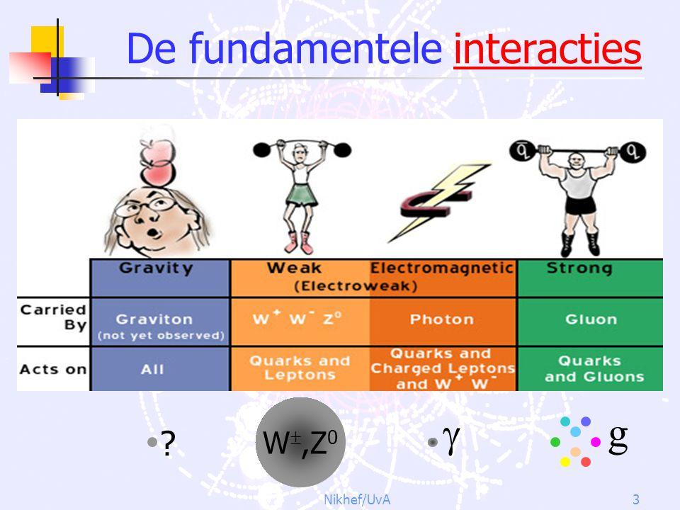 Nikhef/UvA3 De fundamentele interacties g W ,Z 0  ?