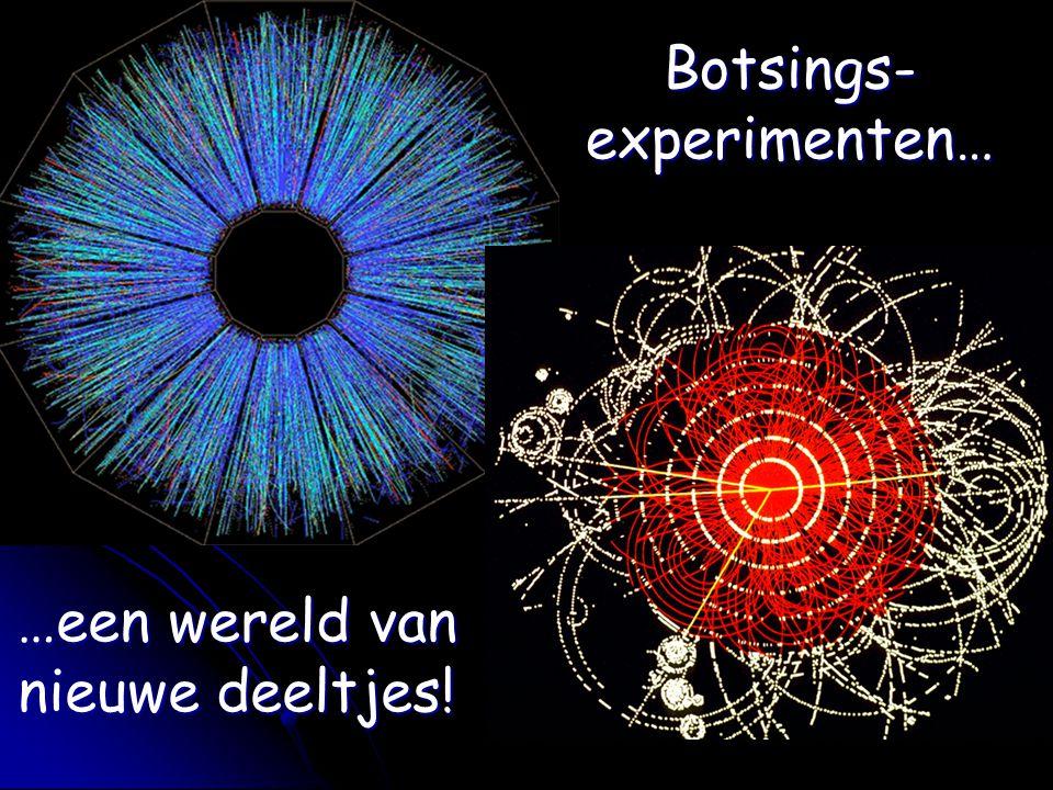 Botsings-experimenten… …een wereld van nieuwe deeltjes!