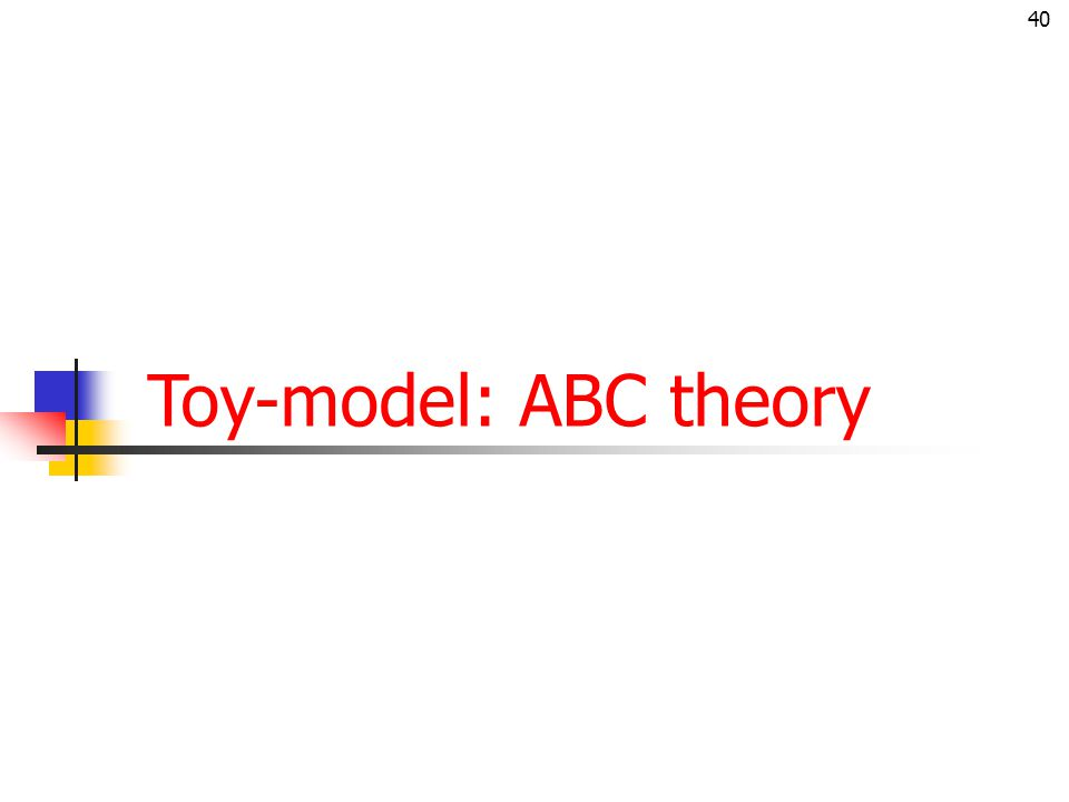 40 Toy-model: ABC theory