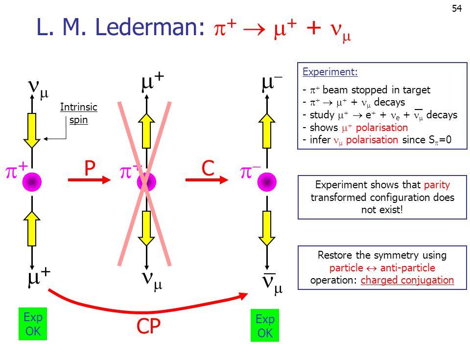 54 ++ ++  ++  ++ Intrinsic spin L.M.