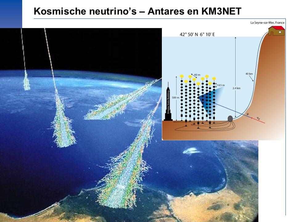 © Prof.dr Jo van den Brand, 2010 – 33 Kosmische neutrino's – Antares en KM3NET
