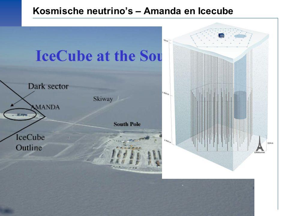 © Prof.dr Jo van den Brand, 2010 – 34 Kosmische neutrino's – Amanda en Icecube