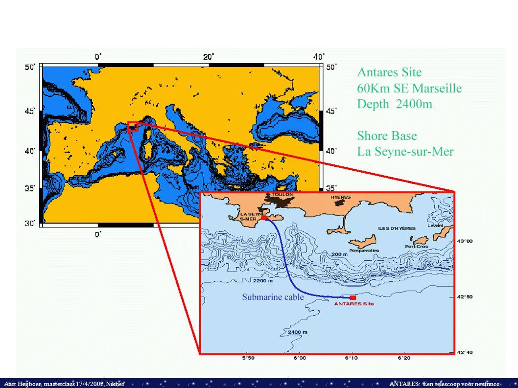 Aart Heijboer, masterclass 17/4/2002, NikhefANTARES: Een telescoop voor neutrinos