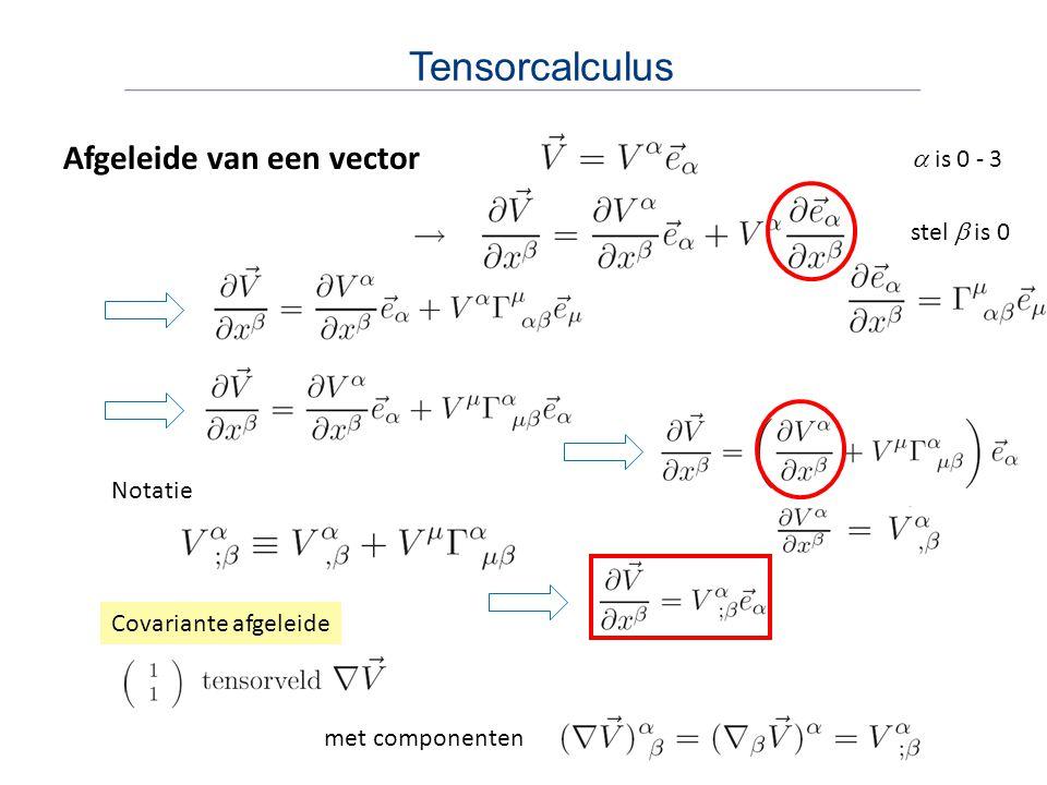 Lokaal lorentzframe – LLF We bespreken in het volgende de gekromde ruimtetijd Op elke gebeurtenis P in ruimtetijd kunnen we een LLF kiezen: - we zijn vrij-vallend (geen effecten van gravitatie volgens equivalentieprincipe) - in LLF geldt de minkowskimetriek LLF in gekromde ruimtetijd Op elk punt is raakruimte vlak Lokaal euclidisch