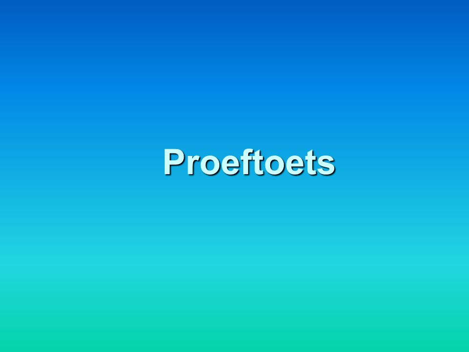 Proeftoets