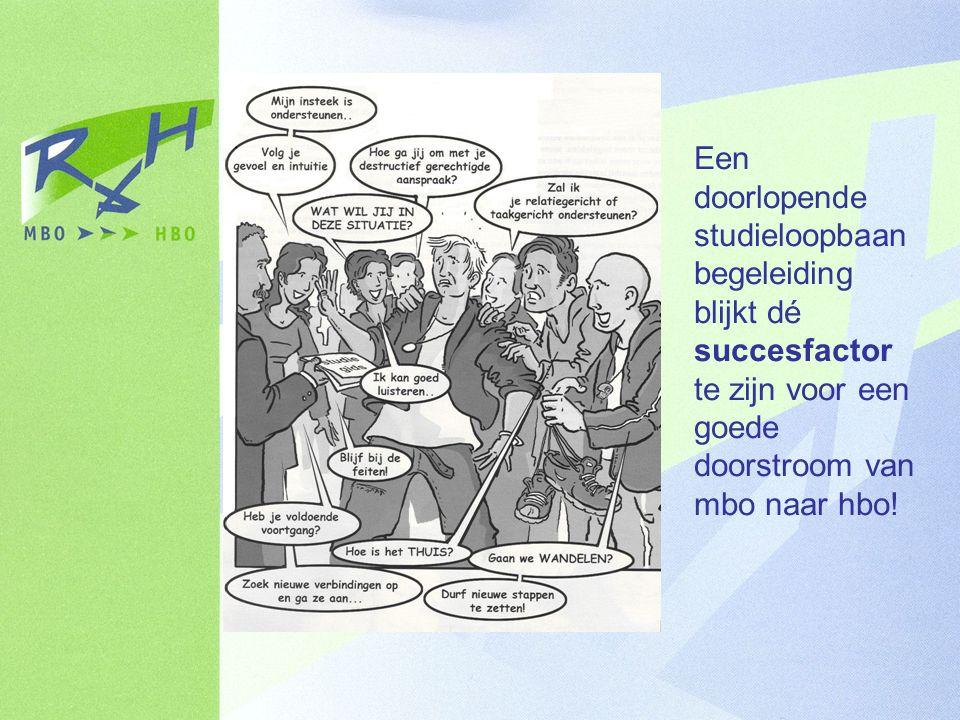 Een doorlopende studieloopbaan begeleiding blijkt dé succesfactor te zijn voor een goede doorstroom van mbo naar hbo!