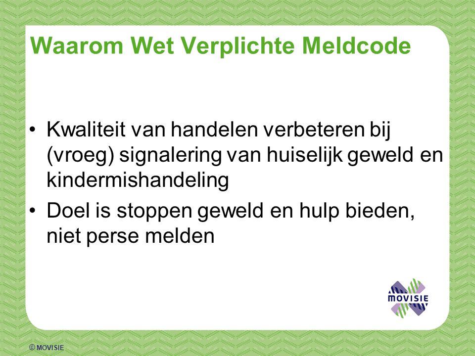 © MOVISIE Meldcode - meldplicht.