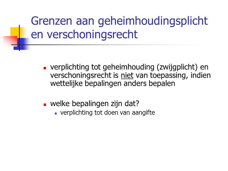 Wettelijke bepalingen m.b.t.aangifte strafbare feiten (1) Art.