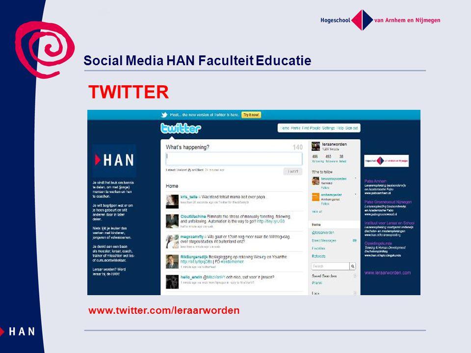 Social Media HAN Faculteit Educatie www.foursquare.com FOURSQUARE