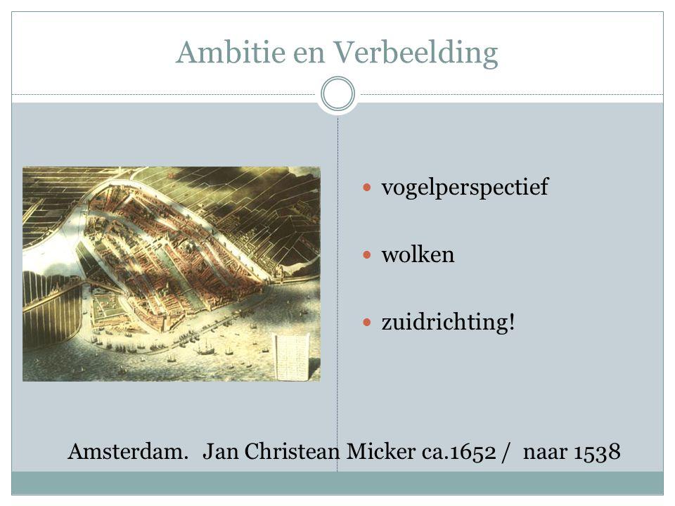 Ambitie en Verbeelding vogelperspectief wolken zuidrichting.