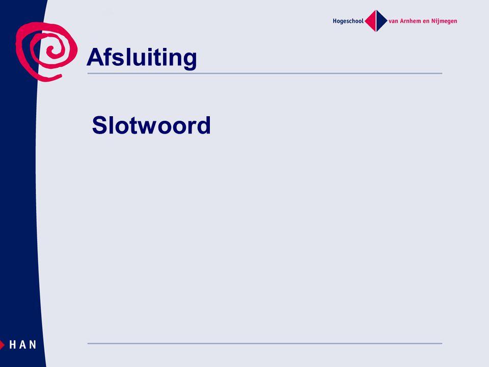 Afsluiting Slotwoord