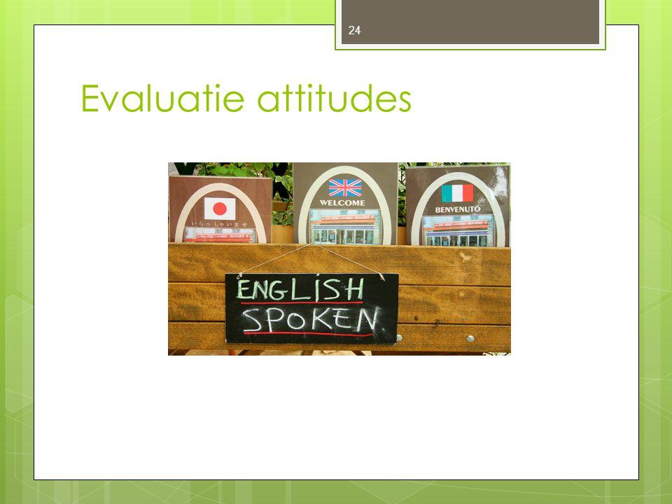 Evaluatie attitudes 24