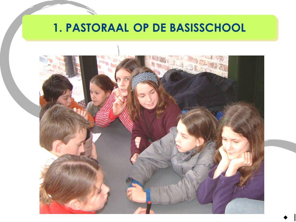 In godsdienst en pastoraal komt de identiteit aan bod.Schoolpastoraal = geheel aan activiteiten van: anderen met zorg nabij zijn.Pastoraal brengt m