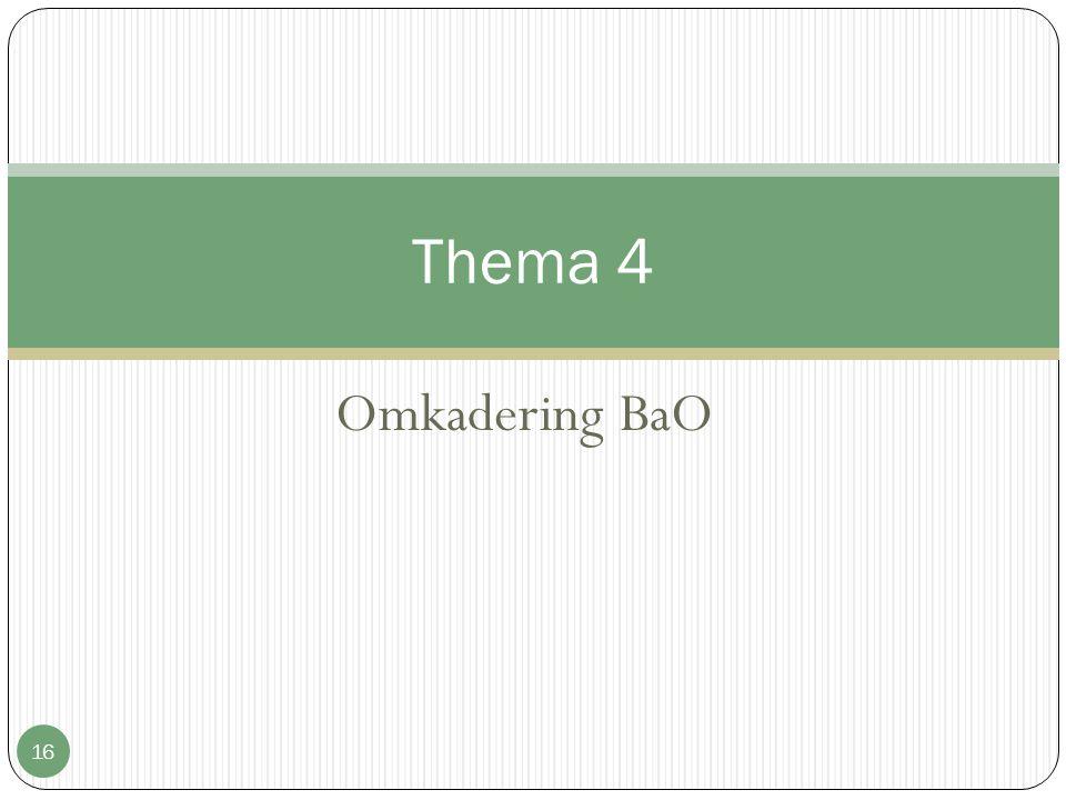 Omkadering BaO 16 Thema 4