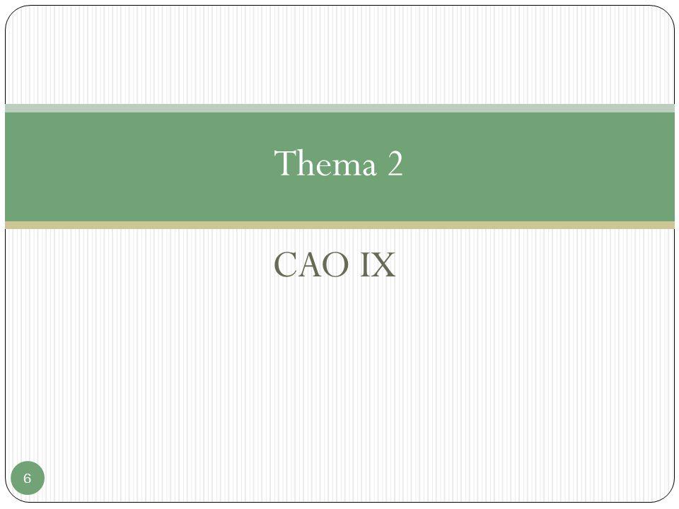 CAO IX 6 Thema 2