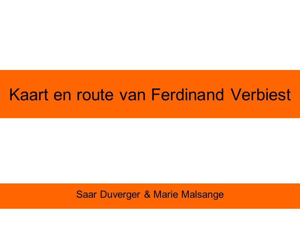 Kaart en route van Ferdinand Verbiest Saar Duverger & Marie Malsange