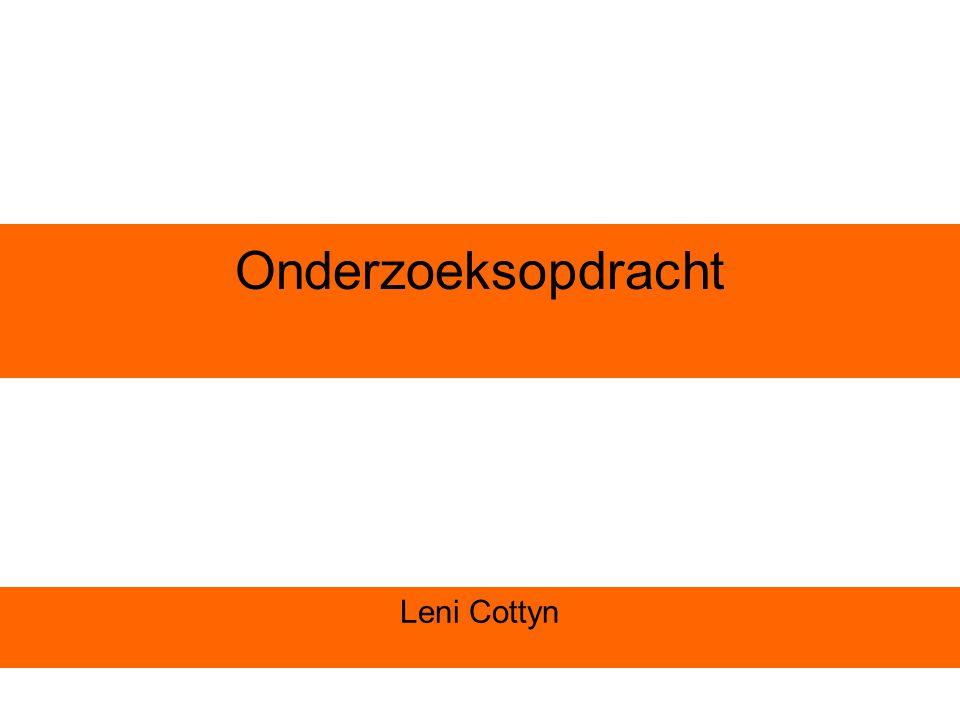 Onderzoeksopdracht Leni Cottyn