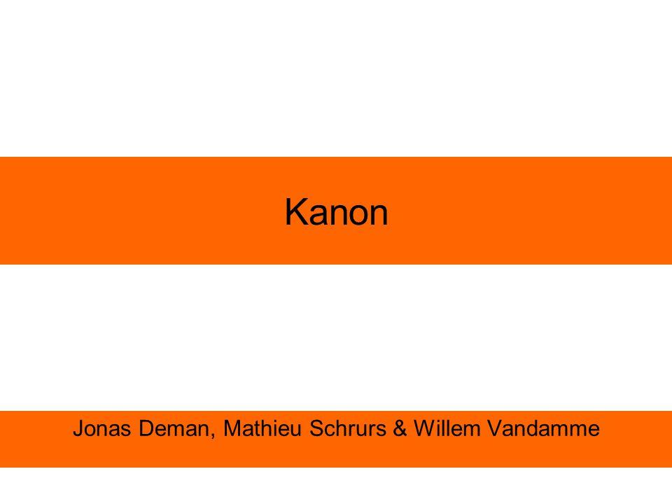 Kanon Jonas Deman, Mathieu Schrurs & Willem Vandamme