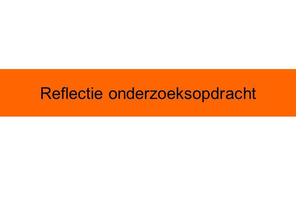 Reflectie onderzoeksopdracht