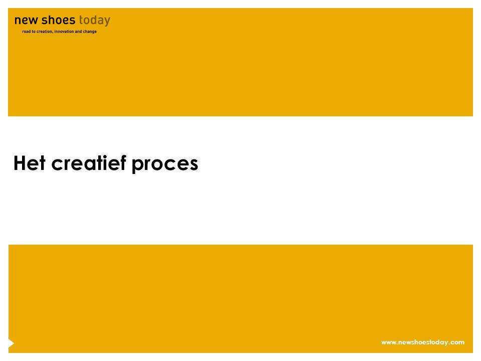www.newshoestoday.com Het creatief proces
