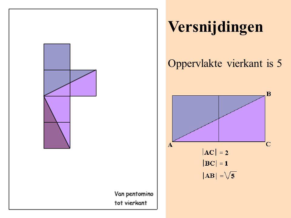 Versnijdingen Oppervlakte vierkant is 5