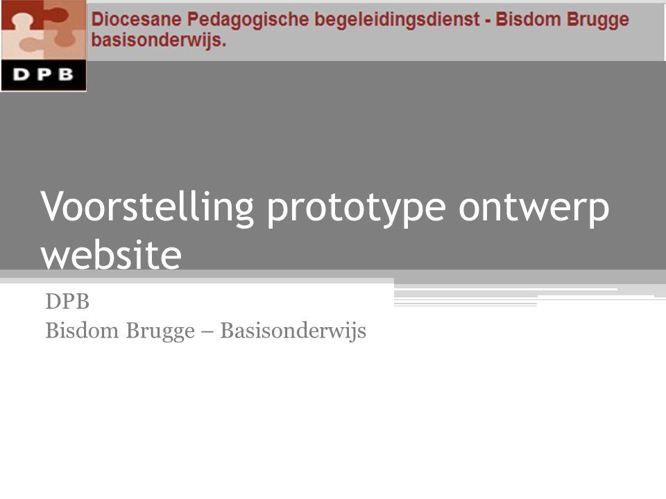 Voorstelling prototype ontwerp website DPB Bisdom Brugge – Basisonderwijs