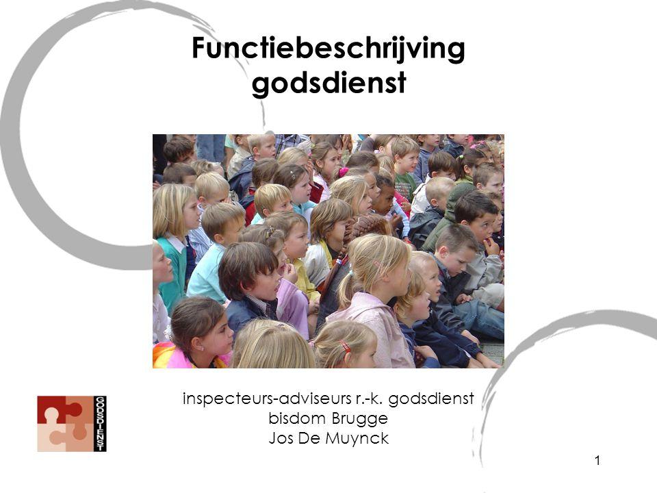 Functiebeschrijving godsdienst inspecteurs-adviseurs r.-k. godsdienst bisdom Brugge Jos De Muynck 1
