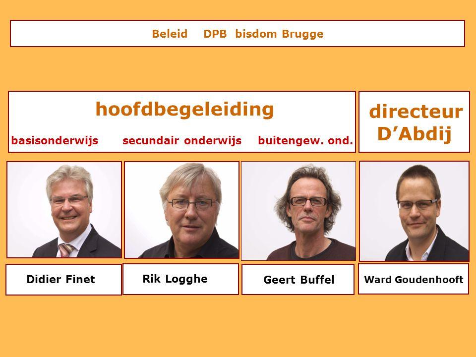 Beleid DPB bisdom Brugge hoofdbegeleiding basisonderwijs secundair onderwijs buitengew. ond. Ward Goudenhooft directeur D'Abdij Didier Finet Rik Loggh