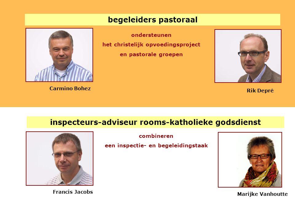 begeleiders pastoraal ondersteunen het christelijk opvoedingsproject en pastorale groepen Rik Depré Carmino Bohez inspecteurs-adviseur rooms-katholiek
